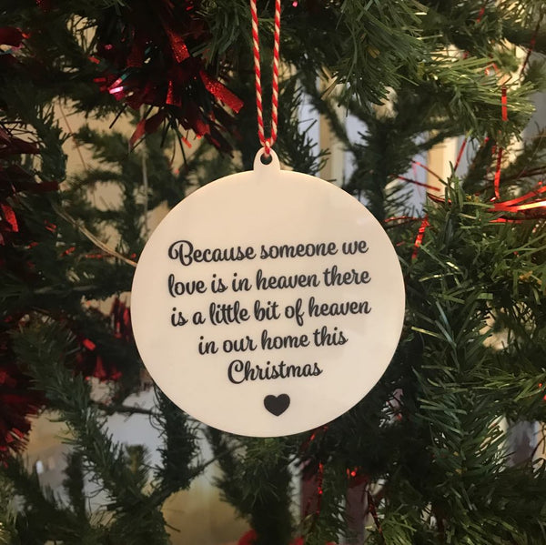 Acrylic Christmas Bauble with message