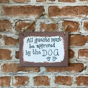 Dog Lover Wooden Plaque Gift