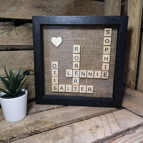 Black scrabble frame