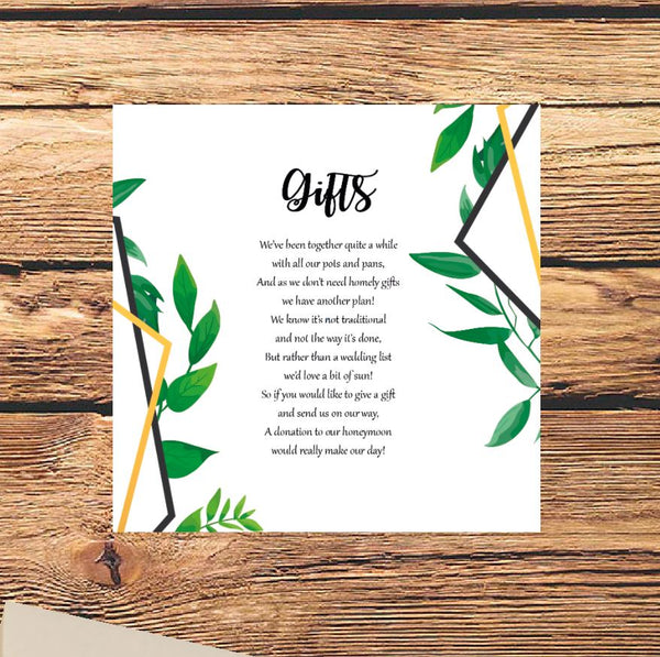 Botanical wedding invites Dover