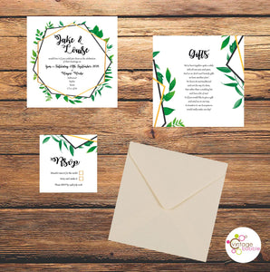 Botanical Style Wedding Invitations