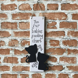 Cat Feeding Chart Plaque