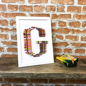 Crayon Letter Art - Any Letter