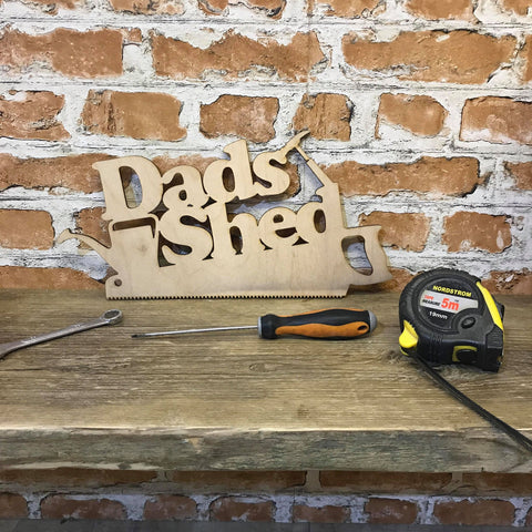 Dads Shed Plaque - Wooden Sign