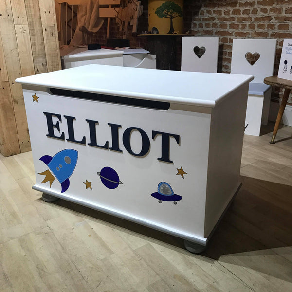 Personalised Handmade Wooden Top Toy Box