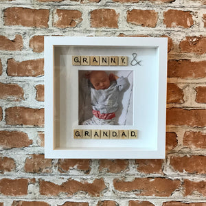 Granny and Grandad Photo Frame