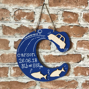 Personalised Wooden Hanging Letter