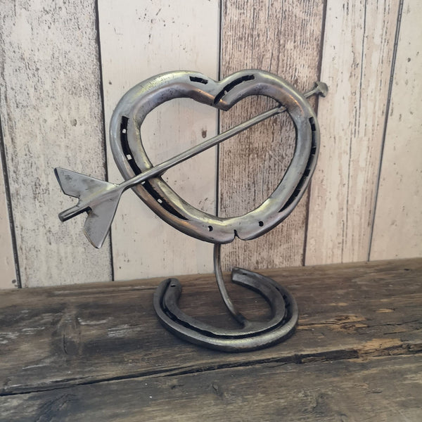 Horseshoe Love Heart with Cupid's Arrow