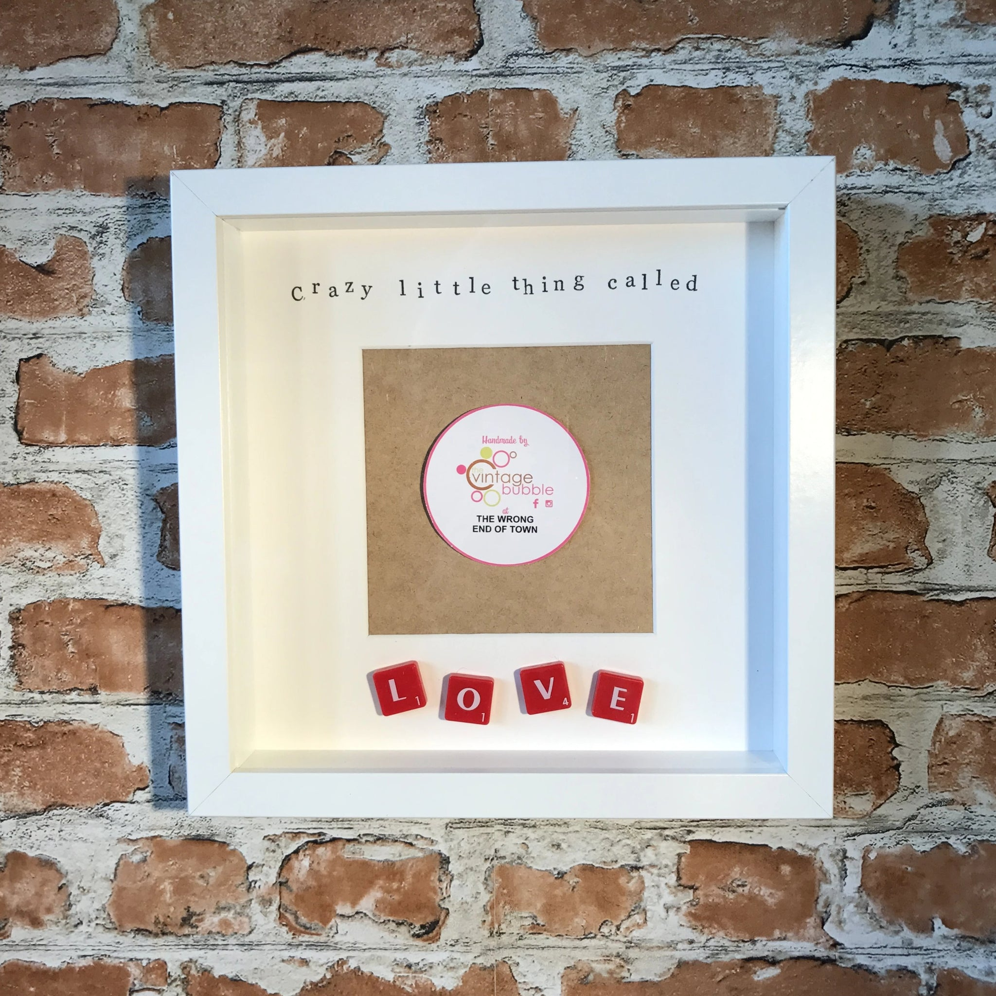 Crazy little thing called love photo frame - love frame