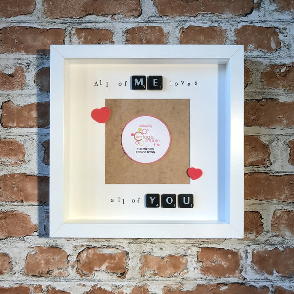 All of me loves all of you Photo Frame