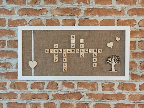 Grandchildren Scrabble Frame for Grandparents