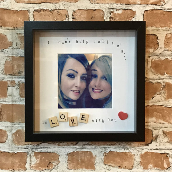 I can't help falling in love with you Photo Frame