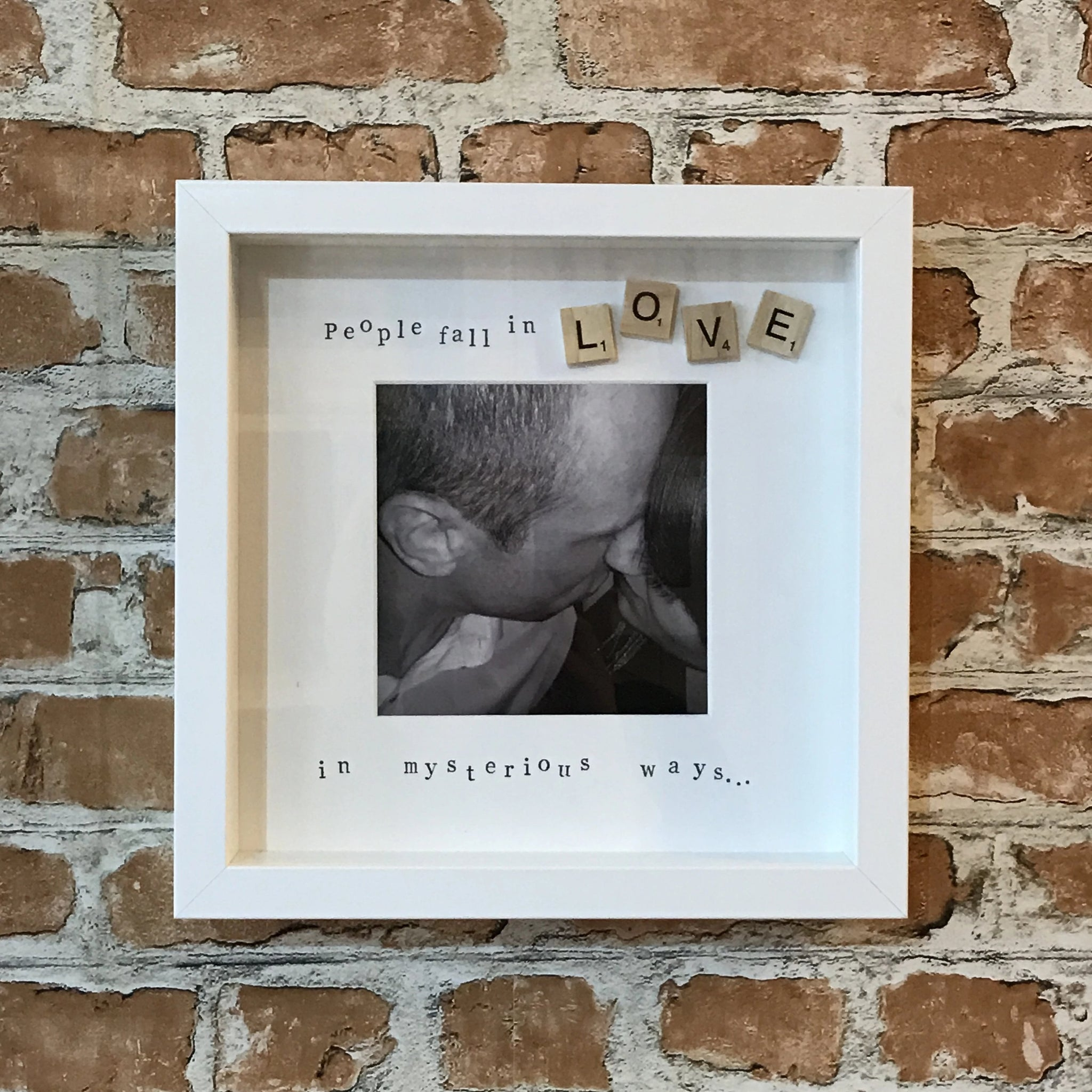 People fall in love in mysterious ways photo frame