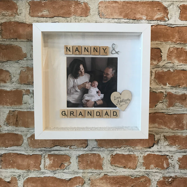Nanny and Grandad Photo Frame