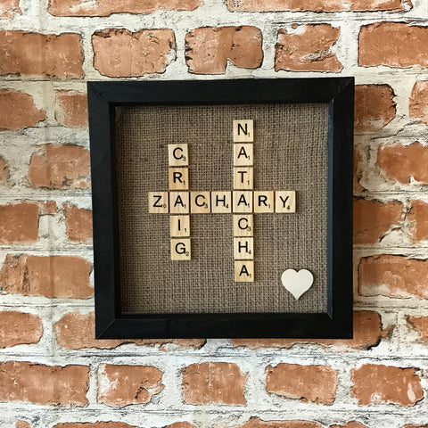 Black Family Scrabble Frame