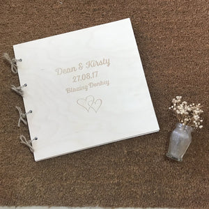 Rustic Wooden Wedding Photo Album
