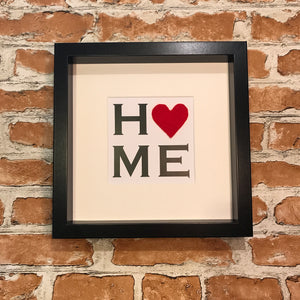 HOME print with heart detail - 7 designs