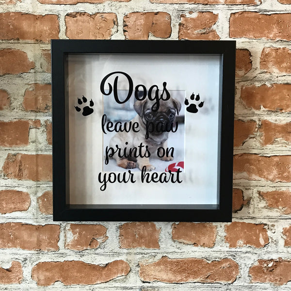 Dogs Leave Paw Prints on Your Heart Photo Frame