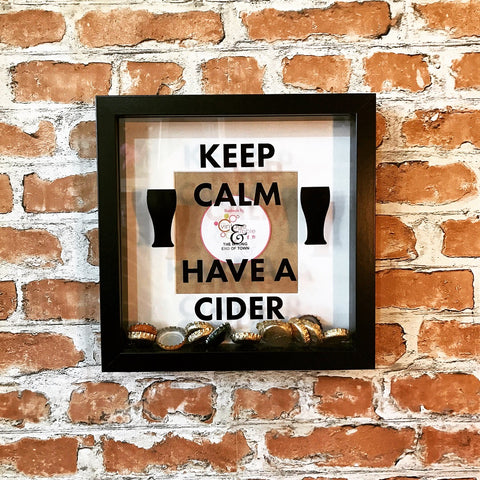 Keep Calm and have a Cider Photo Frame - Fathers Day gift