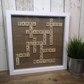 Large Family Scrabble Frame - suitable for 10-15 names