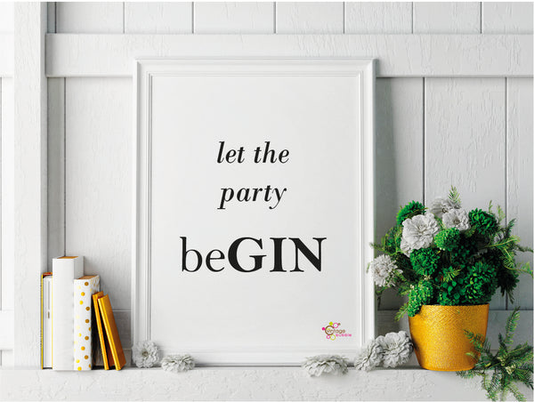 Let the Party be-GIN Print