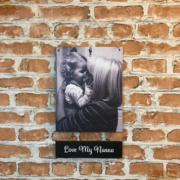 Personalised Photo Hanging Plaque