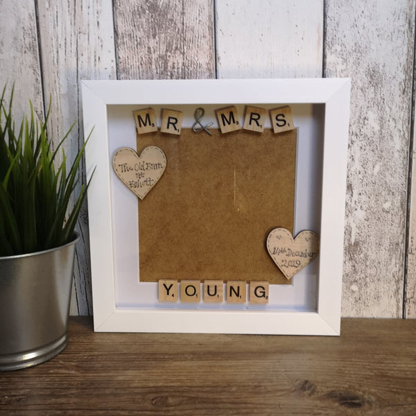 Mr & Mrs Personalised Photo Frame