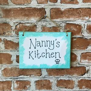Nanny's Kitchen - Handmade Wooden Plaque