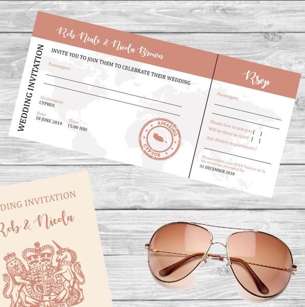 Wedding abroad invitations kent