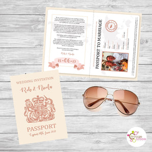 Passport Wedding Invite Kent