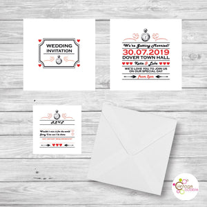 Alice in Wonderland Wedding Invite