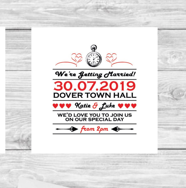 Wonderland wedding invite