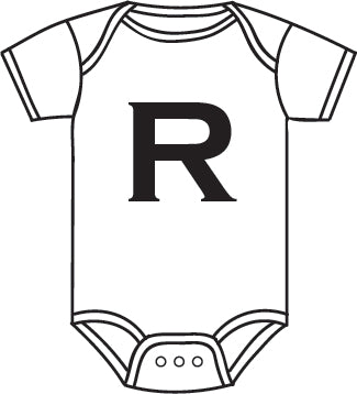 Alphabet Baby Grow - Baby Grow with Letter