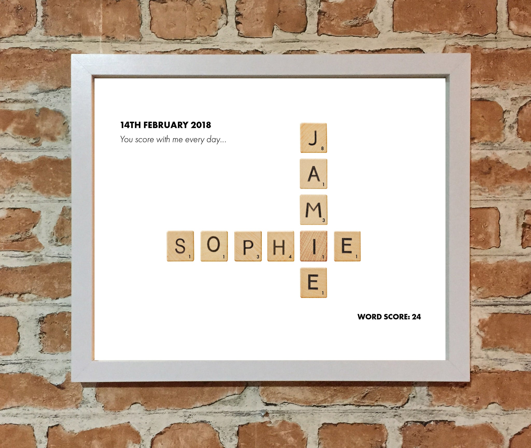 Personalised Scrabble Tile Picture - Scrabble Print