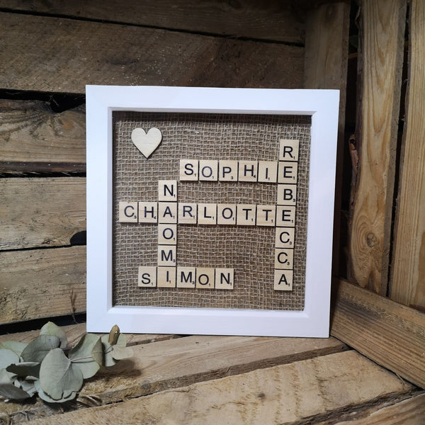 scrabble name frame gift