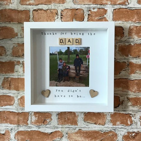 Fathers Day Photo Frame Gift for Step Dad