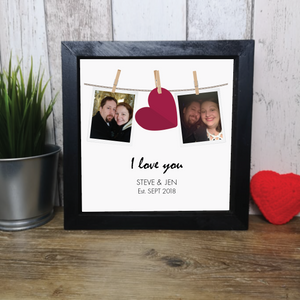 I love you polaroid style frame