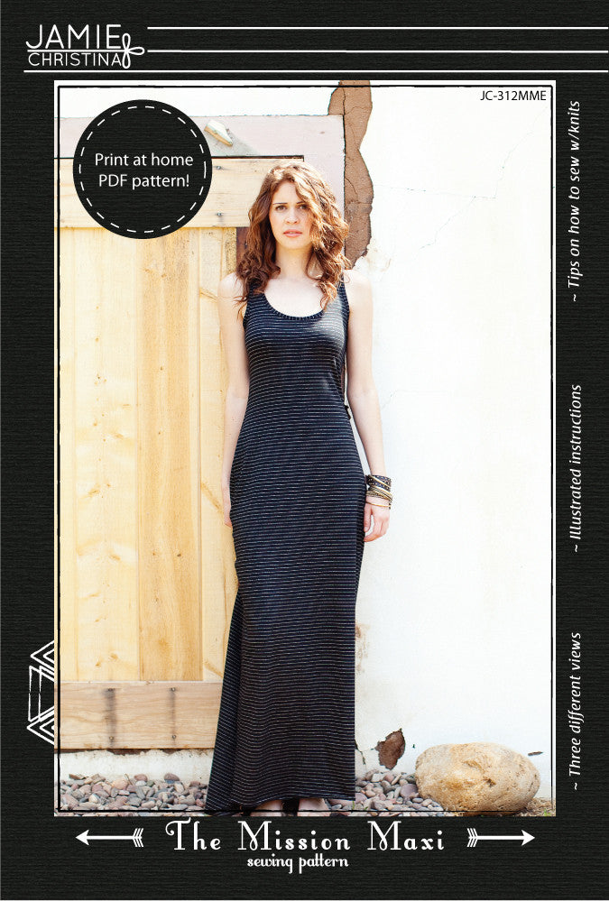 Mission Maxi e-pattern - Jamie Christina - Boutique style sewing ...