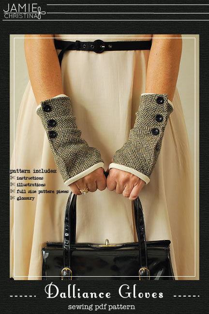 Dalliance Gloves e-pattern - Jamie Christina - Boutique style sewing ...