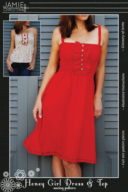 Honey Girl Dress and Top sewing pattern - Jamie Christina - Boutique ...