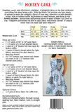 Honey Girl Dress and Top sewing pattern