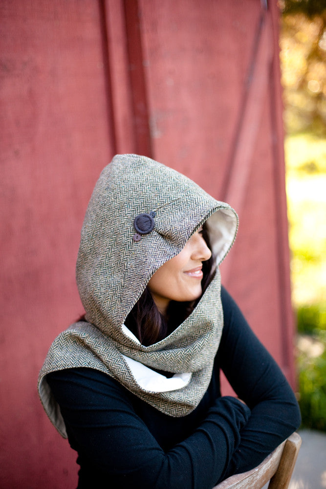 Cat Ear Hooded Scarf Sewing Pattern