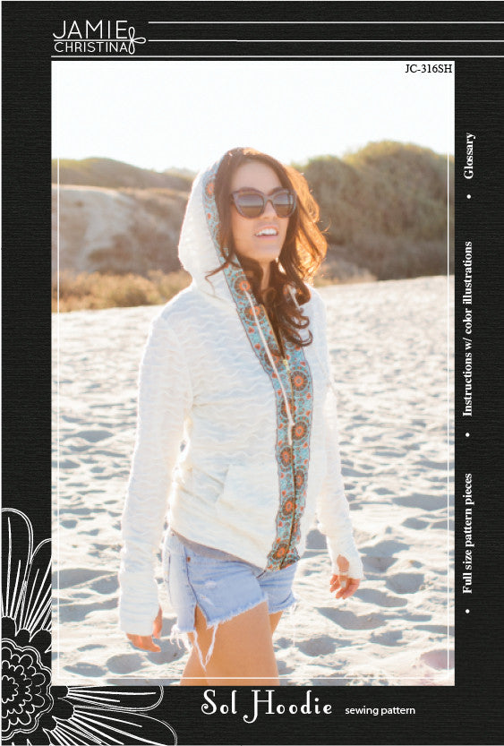 Sol Hoodie sewing pattern - Jamie Christina - Boutique style sewing ...