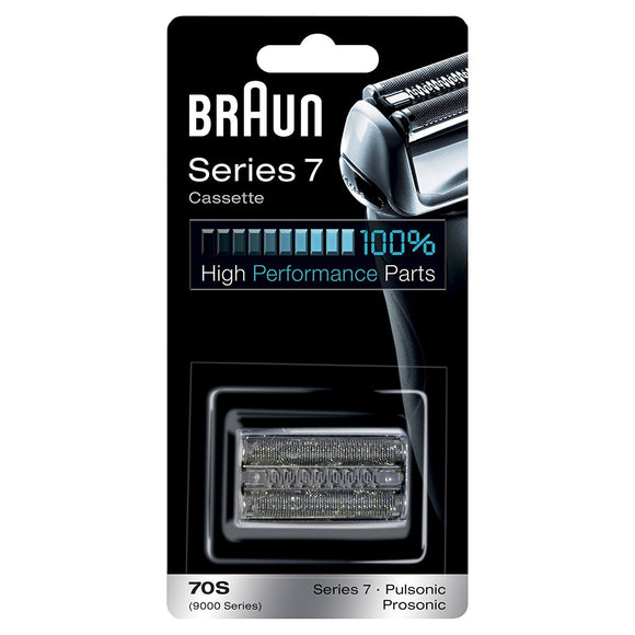 Braun 70S Series 7 Electric Shaver Replacement Foil and Cassette - Silver