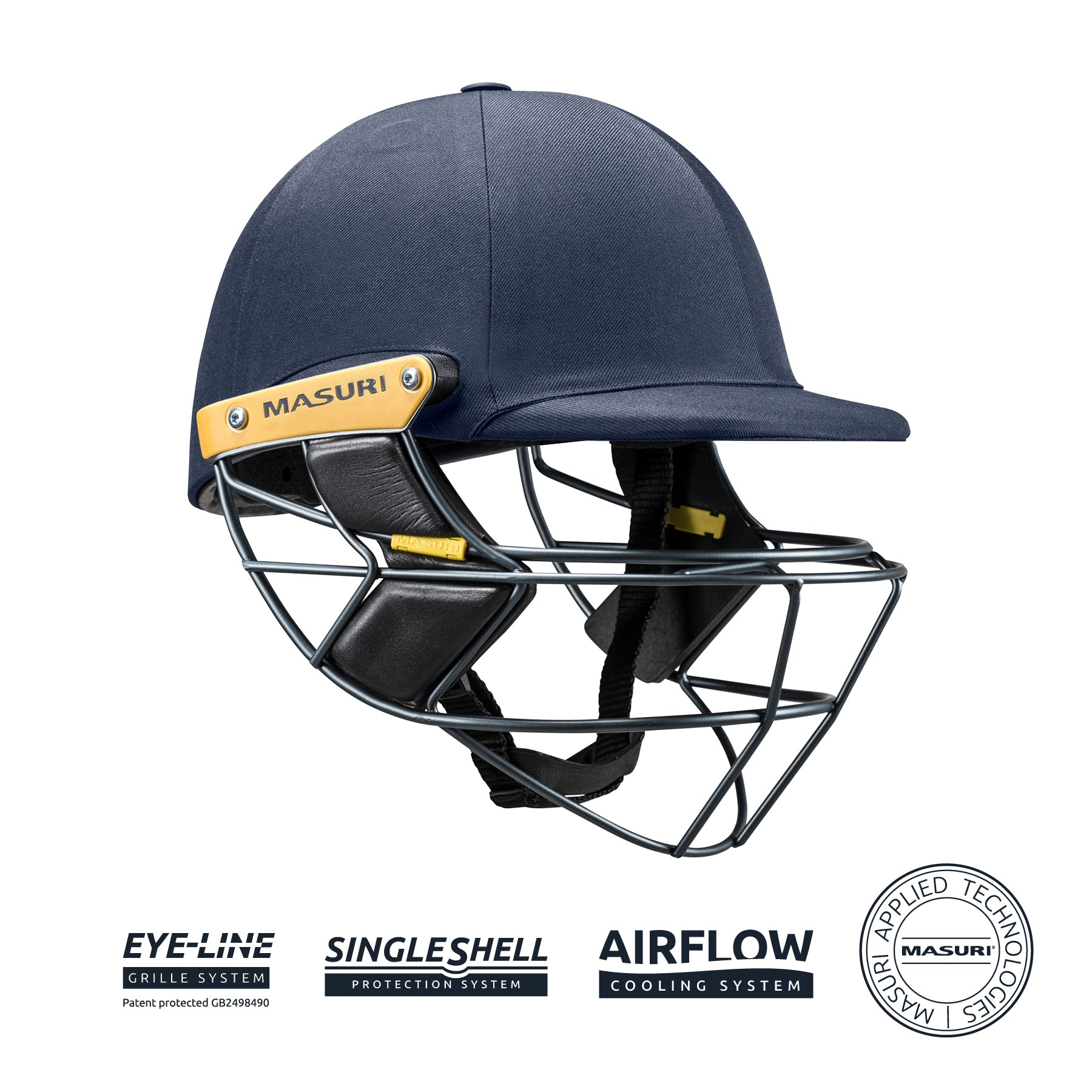 MASURI E LINE STEEL CRICKET HELMET - TRADE ACCOUNTS