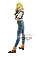 Preorder Scale Statue Banpresto DRAGON BALL Z GLITTER&GLAMOURS-ANDROID 18-III Ver. A  Dark Denim