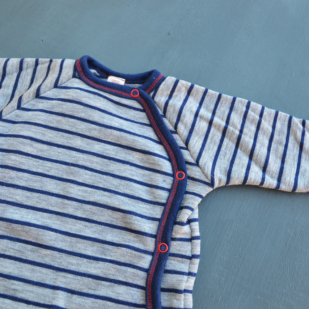 Baby Terry Merino Sweater with Side Studs (3-24m)