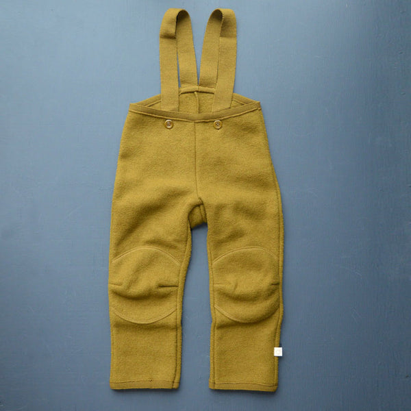 Boiled Wool Dungarees - Gold (4-6y only) *Last One!
