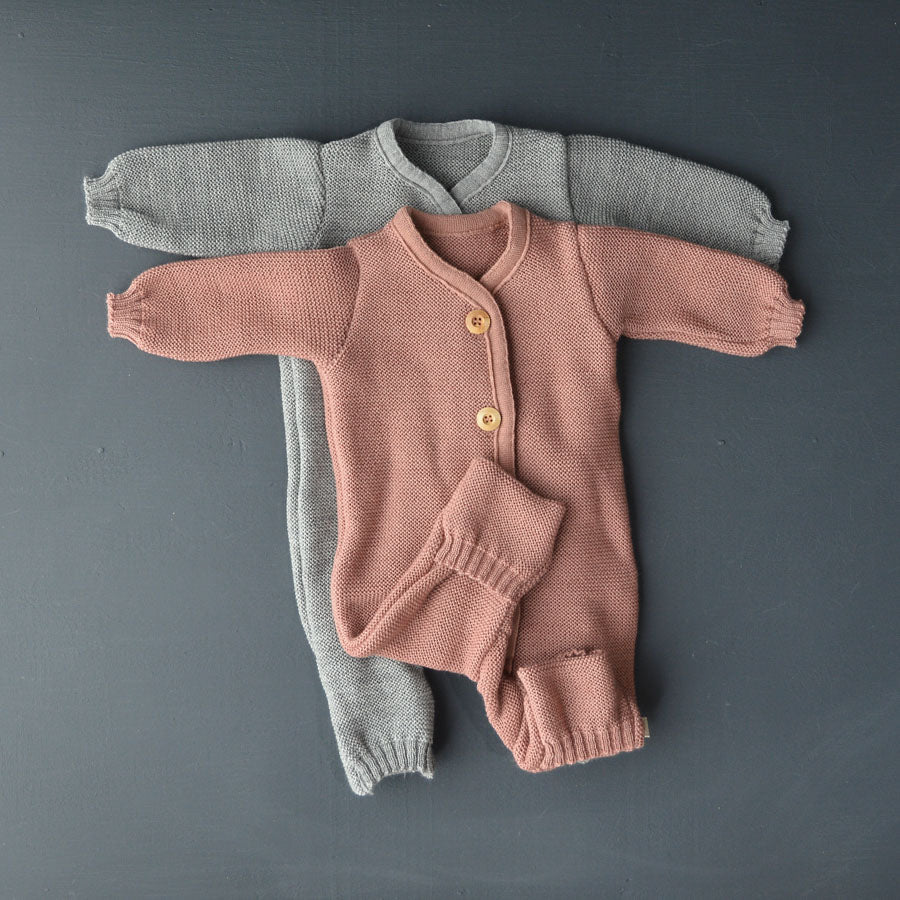 Knitted Overalls in Organic Merino Wool (0-6m)