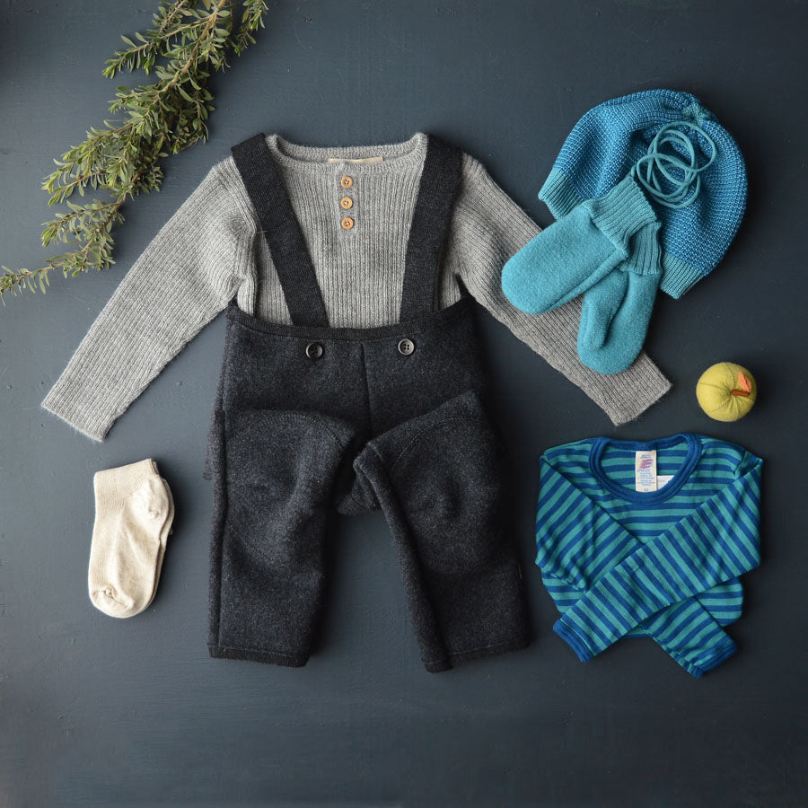 AW19 Boiled Wool Dungarees (1-8y)